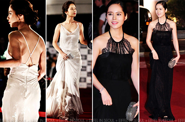 2e535cb4af6 ... and Han Ga-In (한가인) attended the opening ceremony of the 17th Busan  International Film Festival held in Busan, South Korea on October 4, 2012.