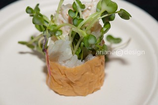 Toast to the Coast/Fish House in Stanley Park's Rainbow Dungeness crab California roll