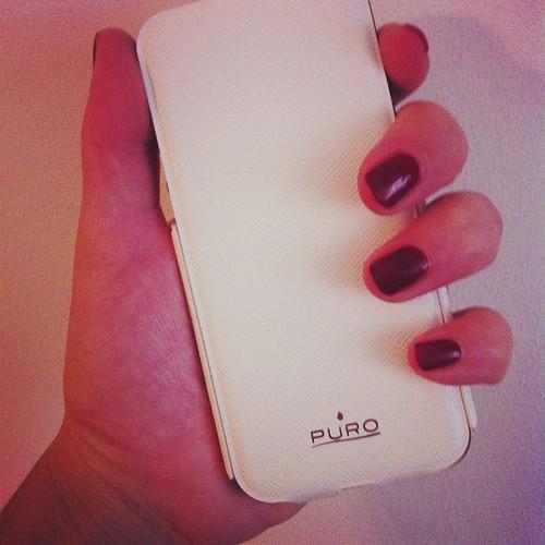 Il mio nuovo #iphone5 protetto dalla bellissima #cover #puro