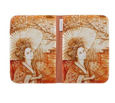 Funda para Kindle Geisha con parasol