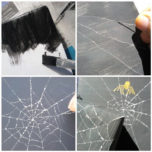 DIY Spidersweb Gift Wrap