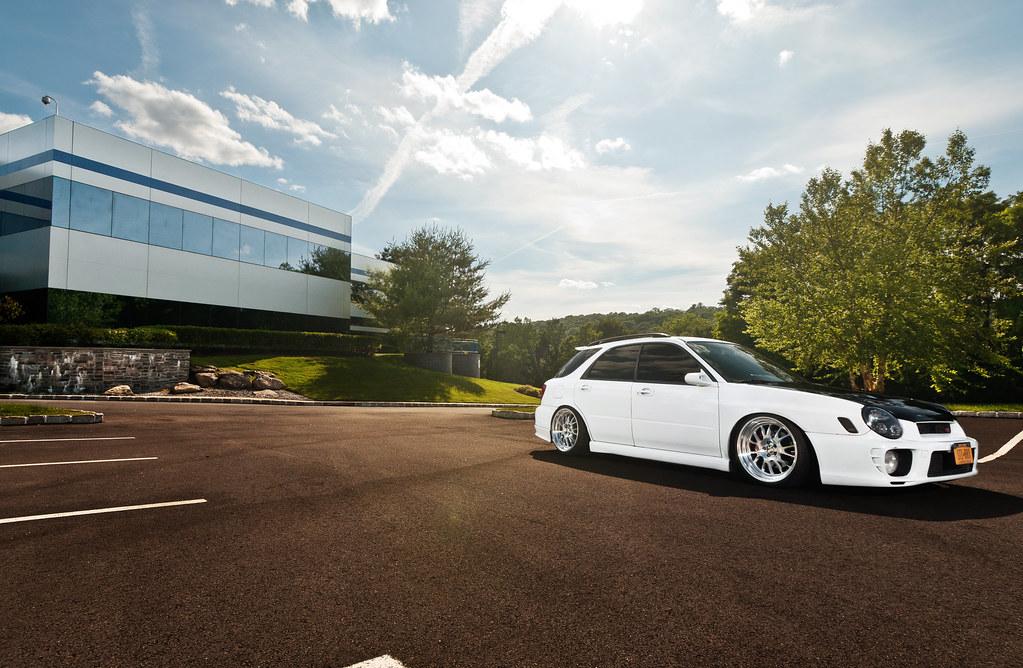 Subaru WRX klutch wheels Sl14 staggered rims 18x8.5 18x9.5 stanced poke camber canibeat stance works hella flush