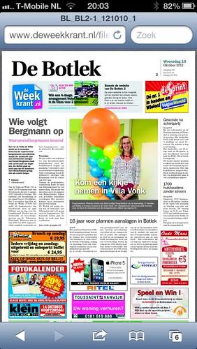 Ballonpilaar Breed Rond Villa Vonk Hoogvliet Rotterdam