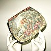 1940s lovely scenic tapestry vintage evening bag with roses and castles. Lovely for the holidays or a wedding.