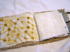 fabric paint directly on the linen