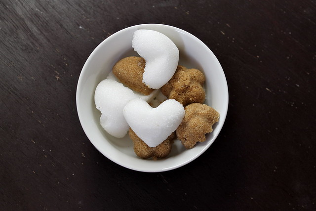 Molded Sugar hearts & flowers