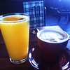Beermosa and Latte at Commonwealth Cafe & Pub, Oakland