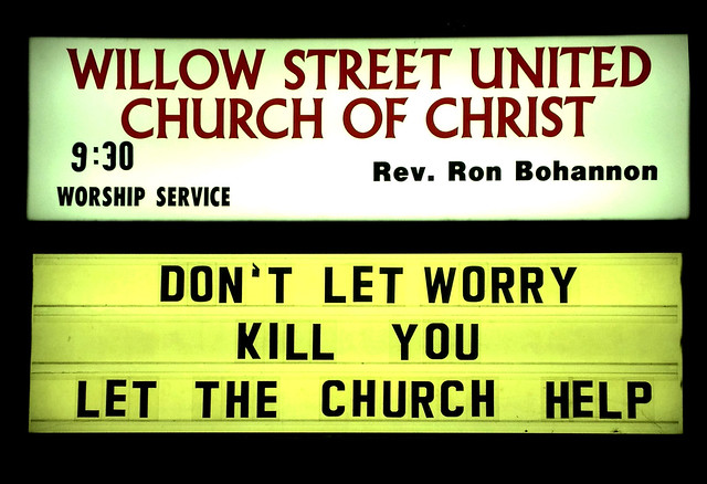 Church Sign, Lancaster Co., USA
