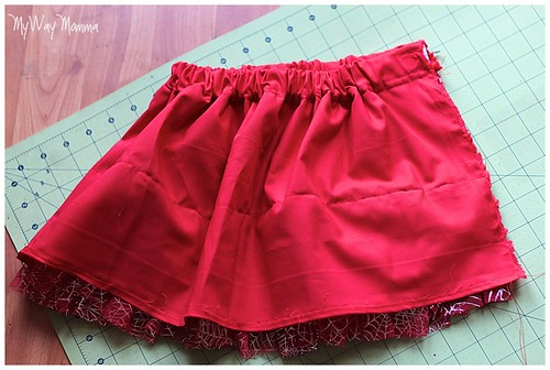 MWM Red 2 tier Halloween Skirt Oct 2012 13