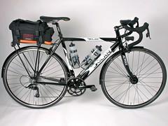 electric bicycle(0.0), mountain bike(0.0), hybrid bicycle(0.0), road bicycle(1.0), wheel(1.0), vehicle(1.0), sports equipment(1.0), cyclo-cross bicycle(1.0), racing bicycle(1.0), land vehicle(1.0), bicycle wheel(1.0), bicycle frame(1.0), bicycle(1.0),