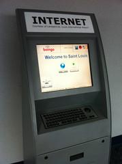 Airport internet terminal