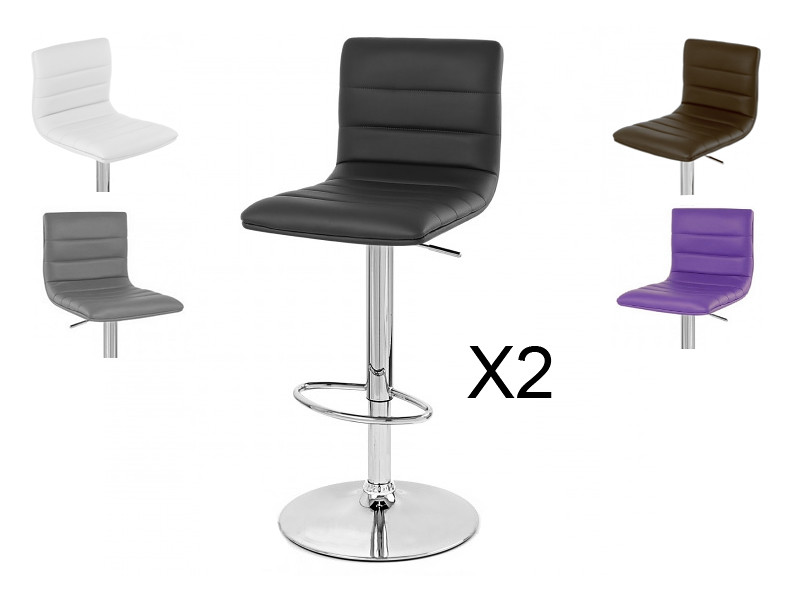 tabouret chaise de bar prince x2 design pivotant neuf ebay. Black Bedroom Furniture Sets. Home Design Ideas