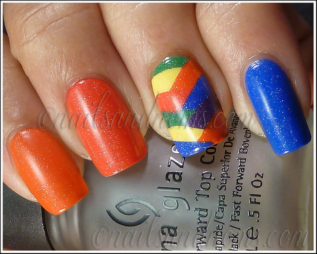 31DC2012 Day 9 - Rainbow Nails 1