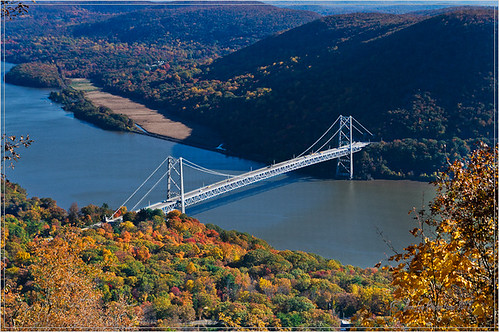 Hudson River bridge view from Bear Mountain State Park
