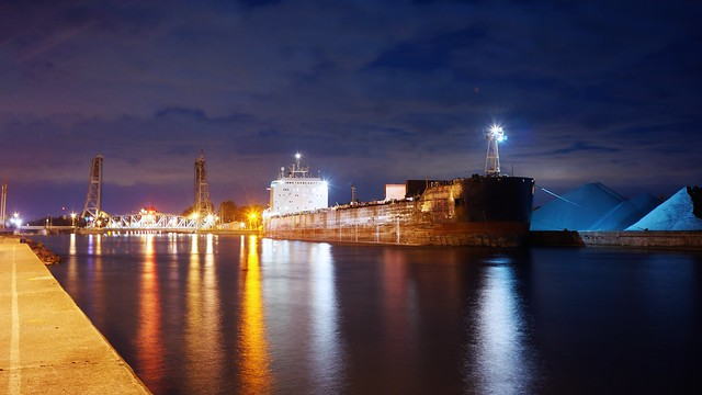 Welland Canal at night