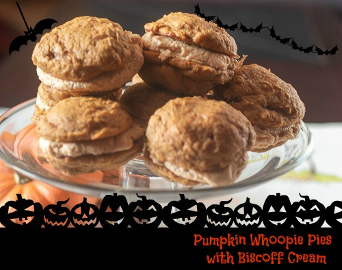 Pumpkin Whoopie Pies with Biscoff Cream - The Girl In The Little Red Kitchen