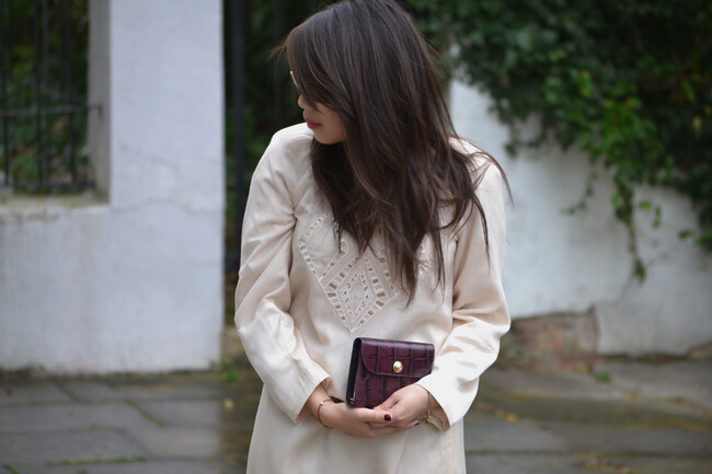 daisybutter - UK Style and Fashion Blog: what i wore, ootd, wiwt, how i style, cream shift dress, temperley london for filofax