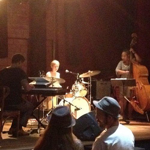Caitlin Moss trio performing a jazz set from the likes of Wayne Shorter and John Coltrane #tenthmusefestival