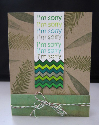 Sorry Leaves card by jupigare