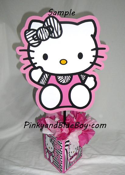 Zebra Hello Kitty Birthday Party Centerpieces Decorations Flickr Photo Sharing