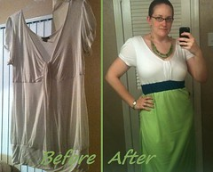 Neon Maxi Dress Before & After