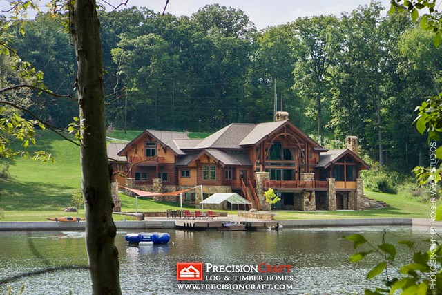 Waterfront View | PrecisionCraft Log Home Located in New Jersey