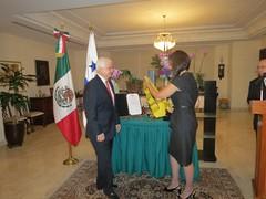 Ceremonia de Condecoración de Ricardo Alemán Alfaro, ex Embajador de Panamá en México, con la Órden Mexicana del Águila Azteca