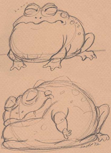 "Initial Sketches for ""Earthquake Beasts"" - Giant Toad"