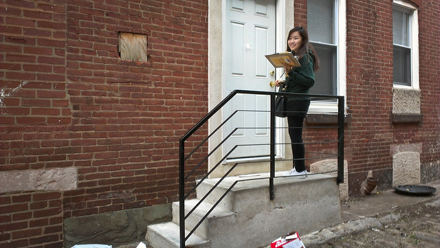 Door-to-Door Canvassing for President Obama in Kensington - Philadelphia, PA