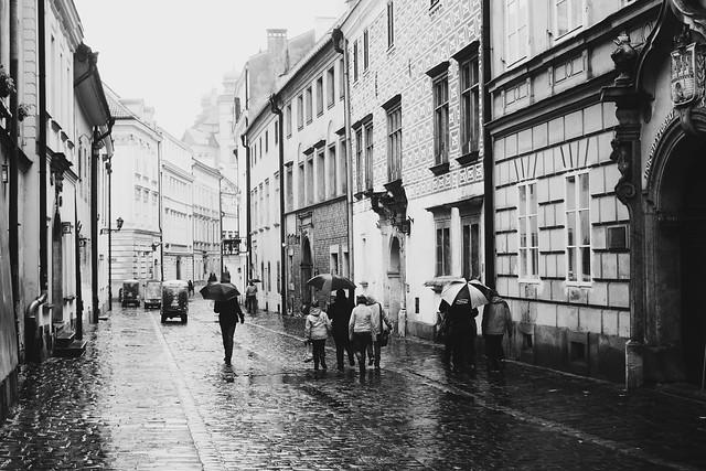Rainy Cracow / Deszczowy Kraków