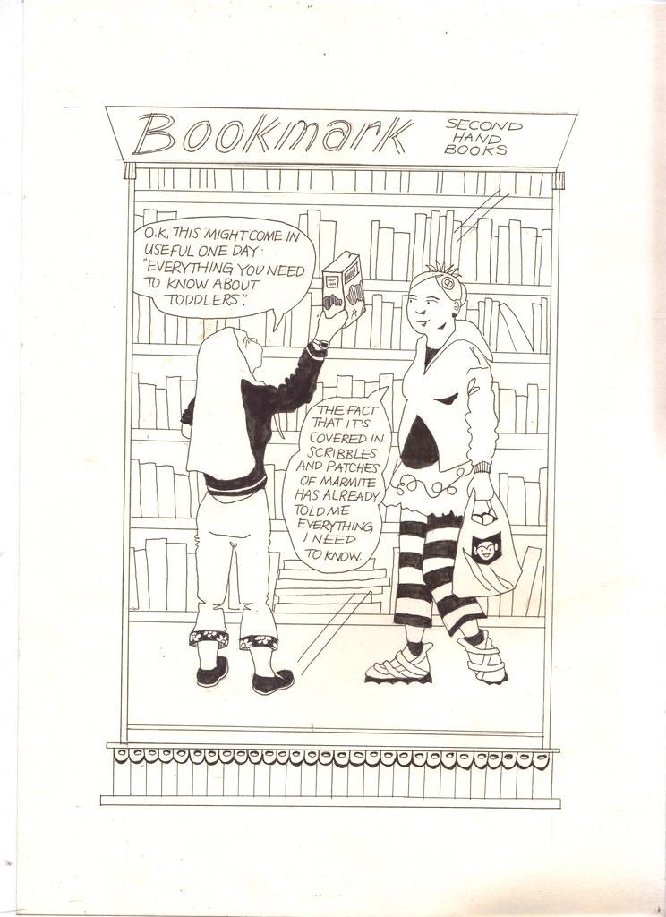 toddler book strip by Myfanwy Tristram