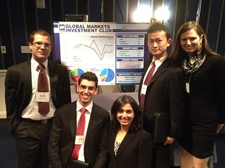 Members of the Global Markets Investment Club at a GAME Forum in NYC