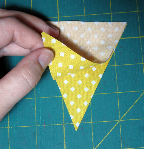 step 4 cut out and place right sides together
