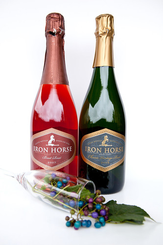 Iron Horse Brut Rosé 2007 and Iron Horse Classic Vintage Brut 2009