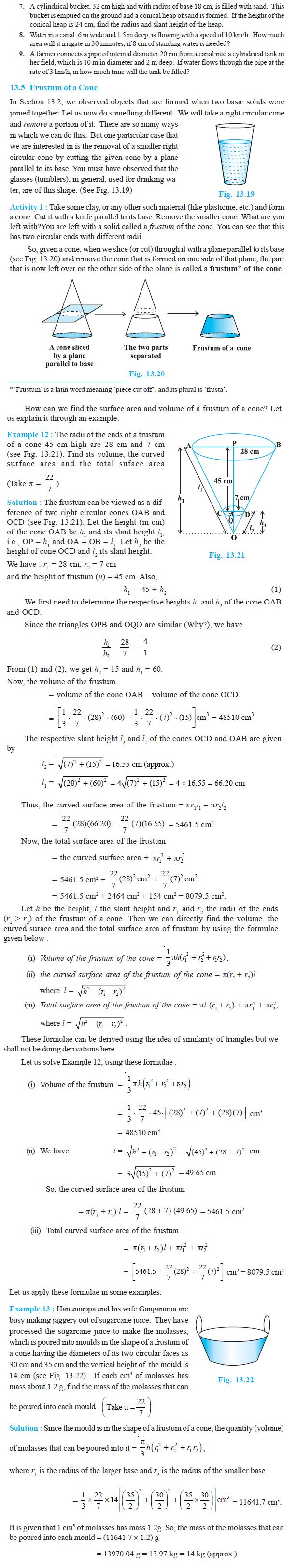 NCERT Class X Maths: Chapter 13 - Surface Areas and Voluments