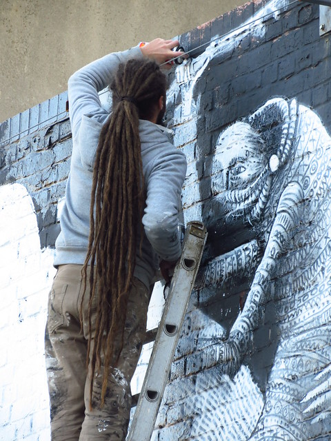 Phlegm - work in progress on Holywell Lane, Shoreditch