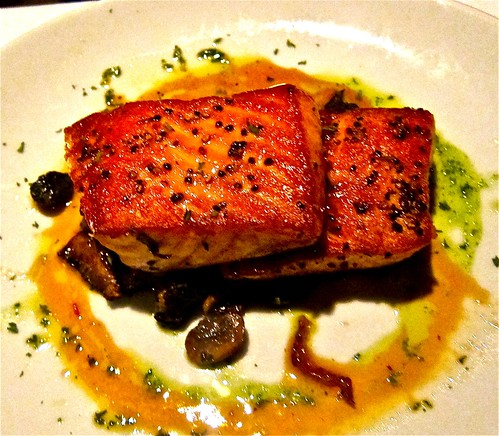 BBQ Scottish Salmon is an alternative to the mat dishes on the menu.