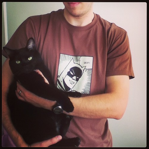 These two are best buds <3 #batman #blackcat
