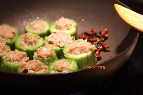 苦瓜鑲肉 Steamed  Bitter Gourd Stuffed with Minced Pork 7