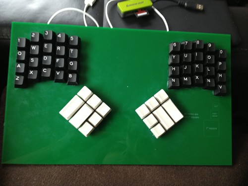 With key caps.