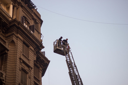 Small fire in downtown Cairo