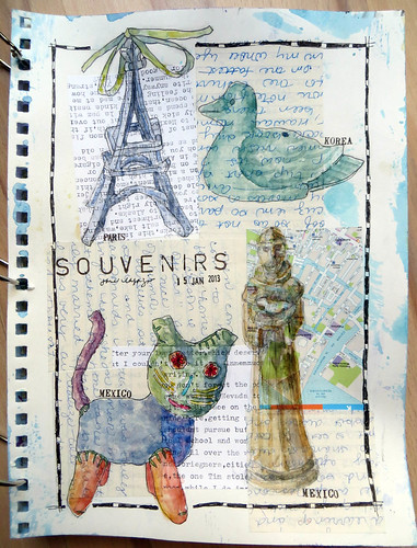 from my sketchbook ~ souvenirs