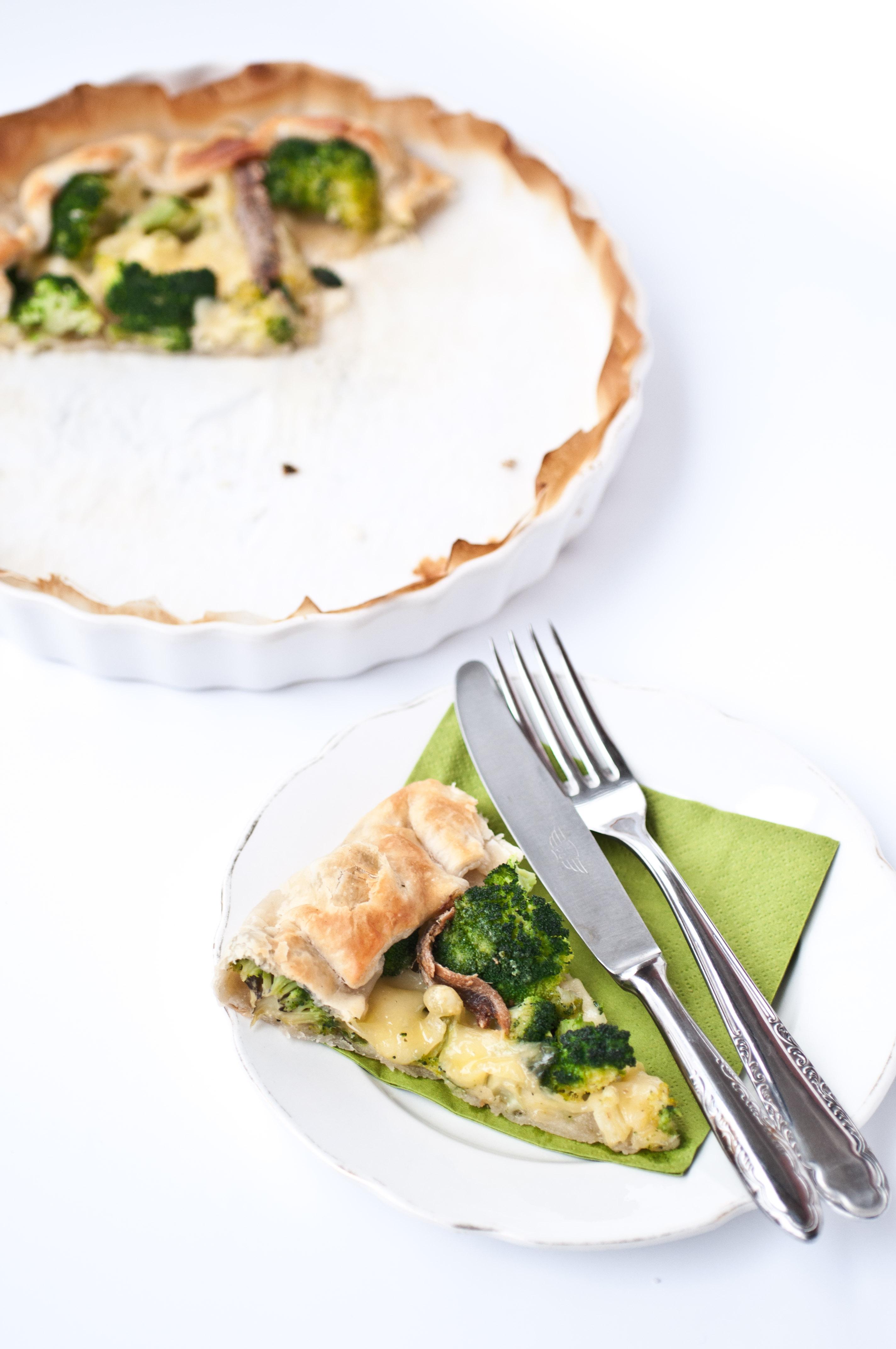 Torta salata broccoli ed Emmentaler