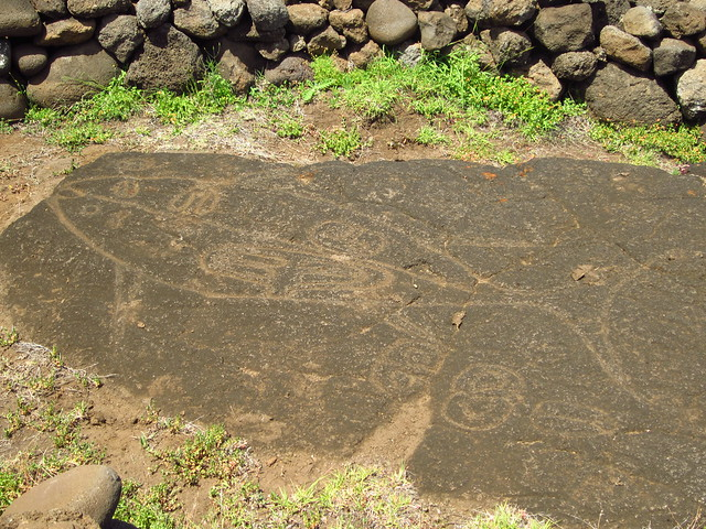 Rock Art on the North Coast of Rapa Nu