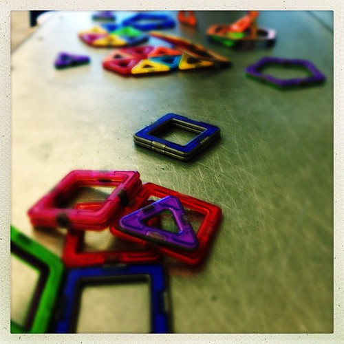 Magnetized by color From our visit at the discovery museum yesterday