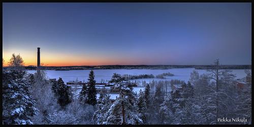 winter snow cold ice sunrise finland frost tampere pyhäjärvi