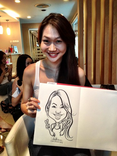 caricature live sketching for Orchard Scotts Dental for Miss Universe Singapore - 14