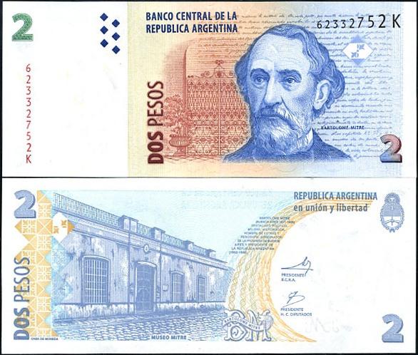 2 Pesos Convertibles Argentína 2002, Pick 352