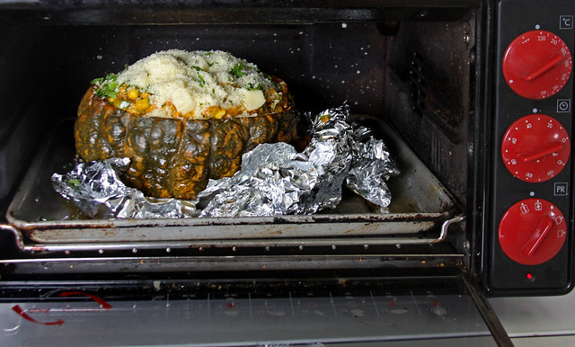 Zapallo relleno al horno