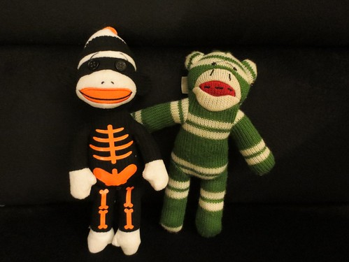 Day 276 - Spooky Monkey meets Sock Monkey